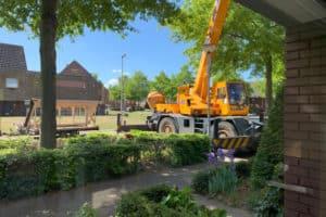 Dakkapel met kraan plaatsen woning Tilburg