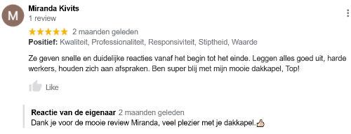 Review over ABM Dakkapellen plaatsing Waalwijk
