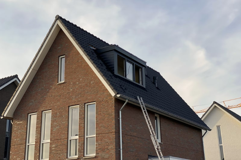 Dakkapel voor nieuwbouwwoning in Dongen geplaatst